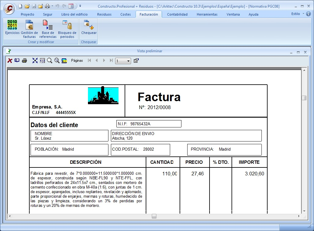 Arktec s a software for architecture engineering and for Empresas de construccion