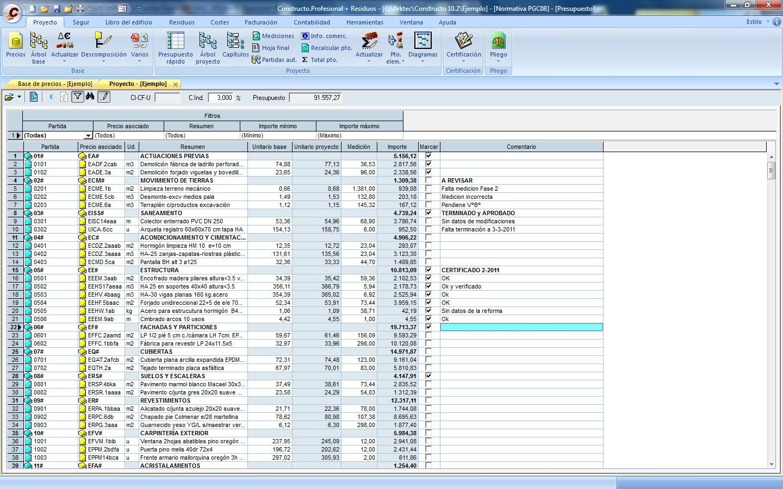 Formato presupuestos for Software para arquitectura