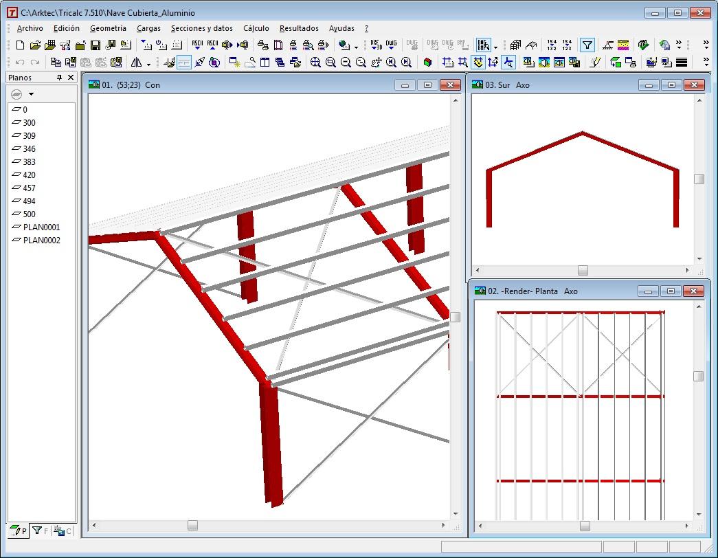 Nave industrial definida con barras de acero en los for Estructuras para viveros plantas