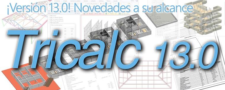 Nueva versión Tricalc 13.0