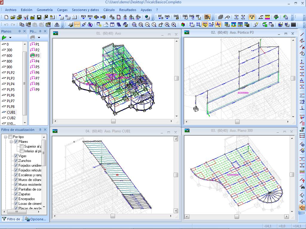 Dise o estructural asistido por computadoras tricalc 8 1 for Planos de estructuras
