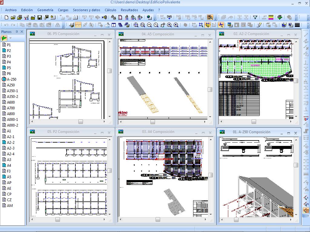 Dise o estructural asistido por computadoras tricalc 8 1 for Programas para crear planos arquitectonicos