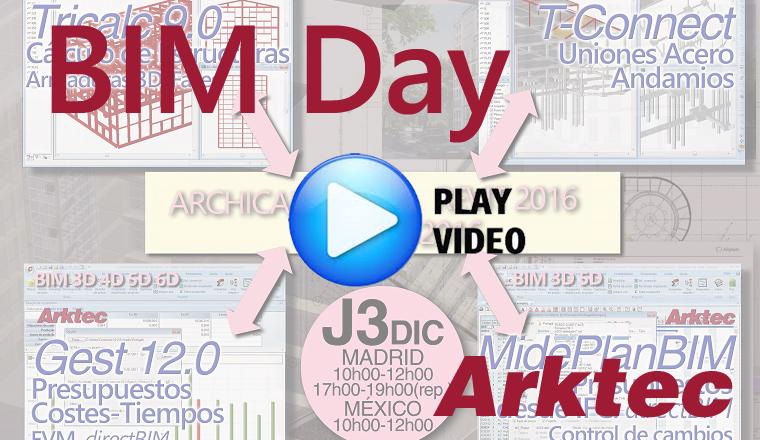 BIM Day, Workshop Estructuras y Presupuestos BIM con ARKTEC