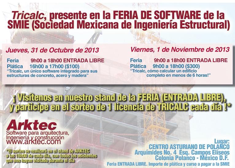 Arktec presente en la Feria de Software de la SMIE, en México D.F.