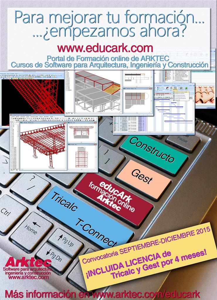 educARK, Portal de Formación online de ARKTEC. Software para Arquitectura, Ingeniería y Construcción
